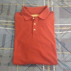 Tommy Bahama red/orange striped polo shirt